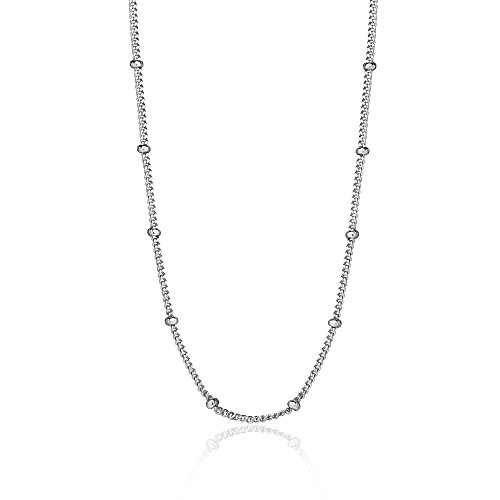 Sterling Silver 2mm Bead Chain - 9