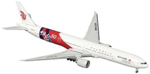 (HE527064 Herpa Air China 777-300ER 1:500 Model Airplane China-France 50TH)