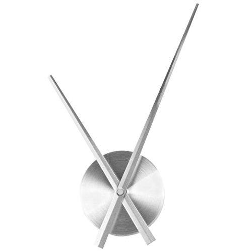 Wawoo accesorios reloj de pared de acero inoxidable, movimiento del reloj mecanismo Metal grande reloj de pared manos Agujas...