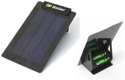 GP Solar - Cargador por energía solar para pilas recargables AA/AAA