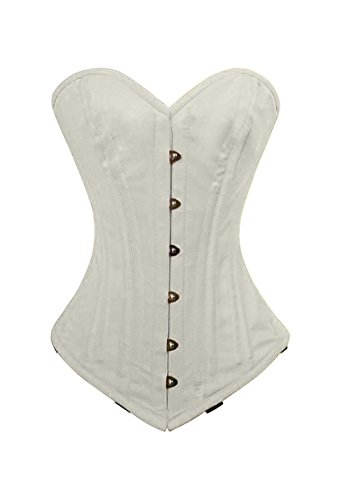 luvsecretlingerie Heavy Duty 26 Double Steel Boned Waist Training Cotton Overbust Tight Shaper Corset #8937-TC