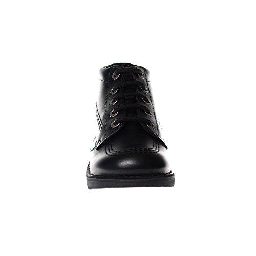 Mode Noir KICKERS Enfants Hi Ecole Kick Chaussures Cuir 8nqYUBTp