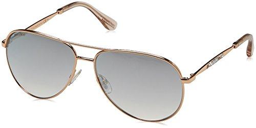 Jimmy Choo Metal Aviator Sunglasses 58 0DDB Gold Copper FU violet silver mirror - Sunglasses Aviator Choo Jimmy