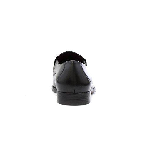 Lotus Mens Black Leather Slip on Shoe Black 5cMhJgK9dA