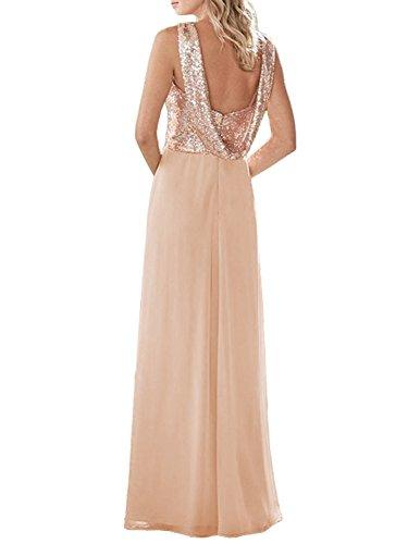 Formal Long Sequined Royal Bridesmaid Dress Dressyu Chiffon Blue Wedding Women's Prom Gown t8q575wH