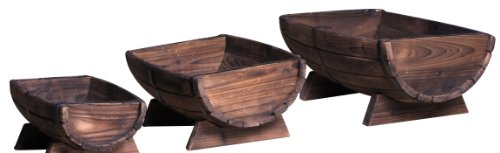 Leigh Country Half Barrel Planter, 3-Piece