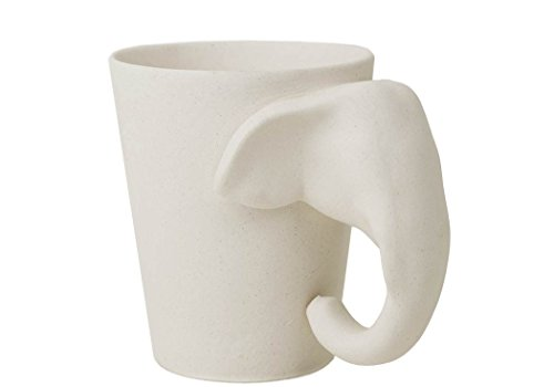 Paint Ceramic Bisque (Elephant 8oz Unpainted Handmade Ceramic Coffee Mug (10cm x 8cm))