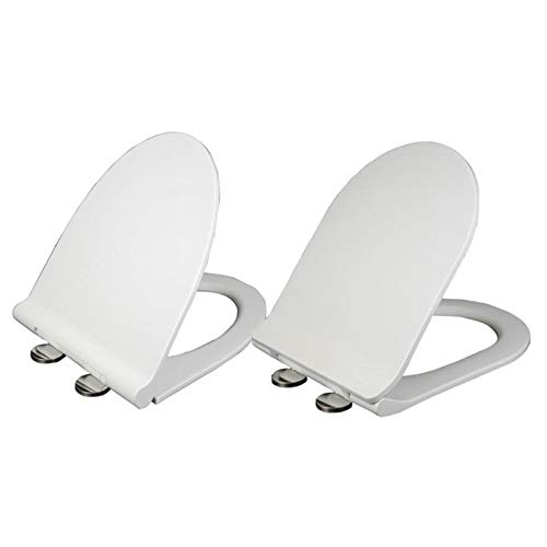 Anddoa Mrosaa Universal Thicken Slow-Close U Type Toilet Seat Covers Set PP Board White Antibacterial Lid - 9027 by Anddoa (Image #3)
