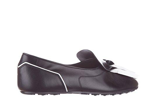 Tods Slip On Femme en Cuir Sneakers Origami Noir