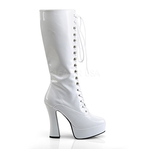 Pleaser ELECTRA-2020 Wht Pat Size UK 4 EU 37