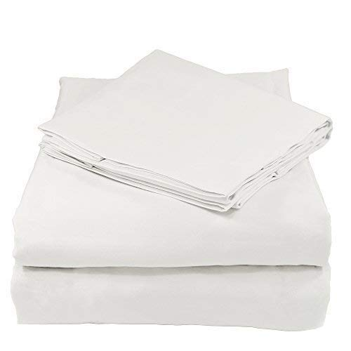 (Whisper Organics GOTS Certified Organic 200 Thread Count Soft Cotton Queen Bed Sheet Set, White)