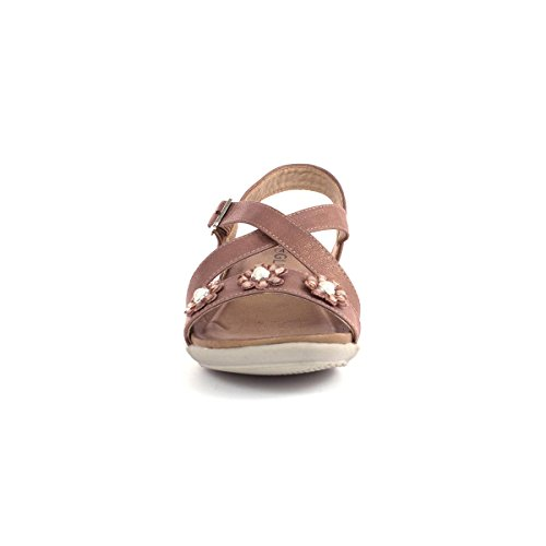 Gluv Womens Rose Pink Comfort Sandal Pink YGyHwcK