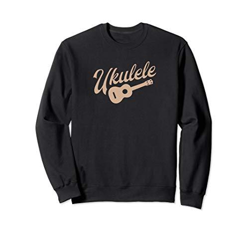 Ukulele Player Sweatshirt Hazel Uke Drawing Retro Design