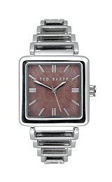 Ted Baker Women's TE4015 Bel-Ted Oversize Square 3-Hand Analog Stainless Steel Watch