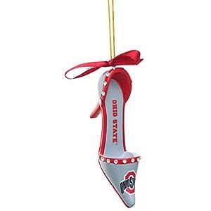 Evergreen NCAA Ohio State Buckeyes Unisex Ornamentohio State Buckeyes Ornament High Heeled Shoe Design, Team Color, One Size