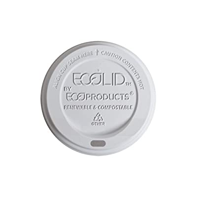 Eco-Products EPECOLID8 EcoLid Renewable & Compostable Hot Cup Lids, Fits 8oz Hot Cups (Case of 800)