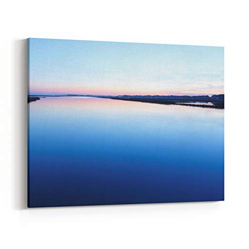 Rosenberry Rooms Canvas Wall Art Prints - Chincoteague National Wildlife Refuge After Sunset, Virginia, USA (40 x 30 inches)