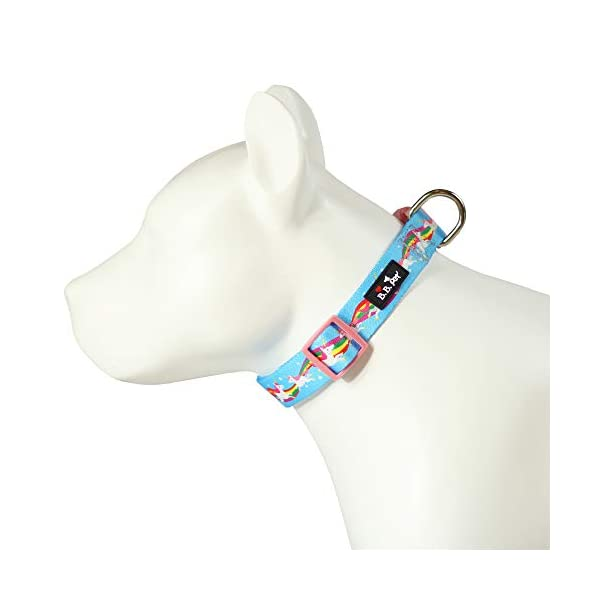 Bestbuddy Pet Unicorns and Rainbows Blue Fairytale Durable Nylon Designer Fashion Dog Collar Trendy Comfortable… 6