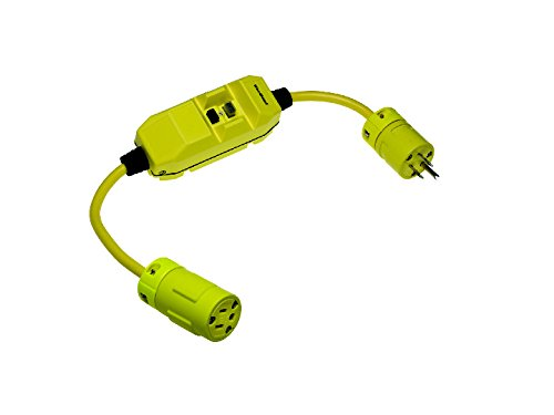 Woodhead 20054-1 Super-Safeway GFCI Plug and Connector, Commercial Duty, NEMA L6-20 Configuration, 12/3 SJTW Cord Type, 1 Receptacles, 20A Current, 240V Voltage, 2ft Cord Length by Woodhead