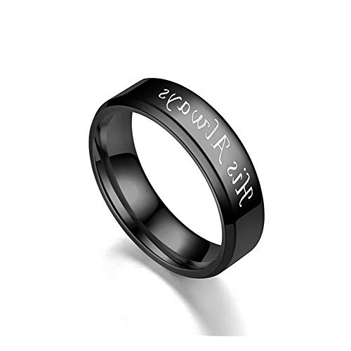Crookston His Always/Her Forever Couple Ring Titanium Steel Wedding Engagement Lover Rings | Model RNG - 2423 | 10