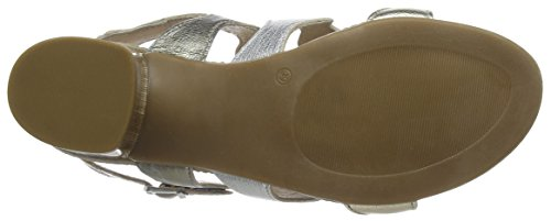 Guadalupe Bout argento Sandales Platino Ouvert Femme bronzo Multicolore 007 Manas gwqdSBq