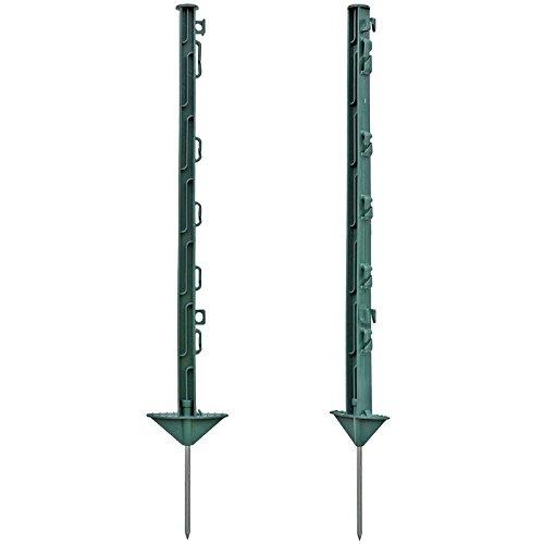 120x Poste para pastor el/éctrico largo 74cm reforzado con fibra de vidrio verde