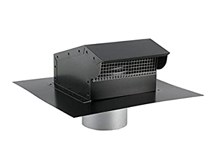 Bath and Kitchen Exhaust Vent with Extension - Painted Black ...