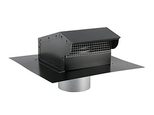 Bath and Kitchen Exhaust Vent with Extension - Painted Black 8 inch