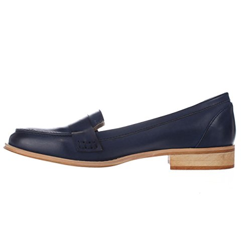 Wanted Shoes Womens Campus Round Toe Loafers, Navy, Size 11.0 Campus Round Shoe