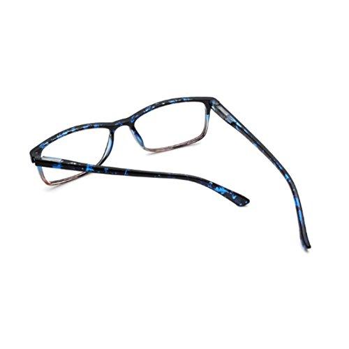 hombres para de Gafas Huicai sol Azul lentes de rectangulares mujeres y resina 0R8r0xn