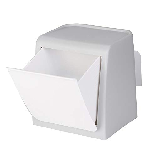Wifehelper Wall-Mounted Desktop Trash bin, Creative Desktop Garbage Can Plastic Storage Box Home Office Washbasin Kitchen Dresser(Gray) (Wall Mounted Washbasin)
