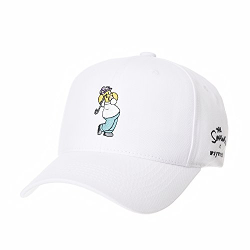 WITHMOONS The Simpsons Baseball Cap Golf Homer Embroidery Hat HL11027 (White)