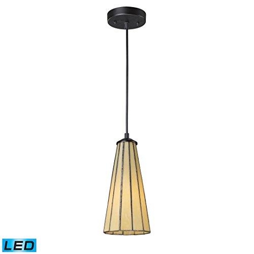 Lumino 1 Light Pendant (ELK lighting Lumino 1-Light Pendant In Hazy Beige In Matte Bk Finish - LED)