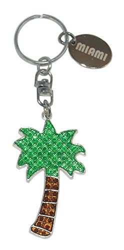 American Metal Key Ring - American Cities and States Metal Quality Keychains (Miami2)