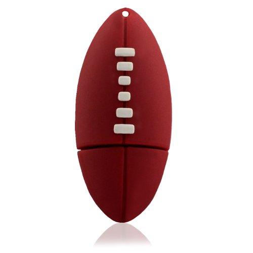 818-Shop No30900080002 Hi-Speed 2.0 USB-Sticks 2GB Rugby Ball Sport 3D rot
