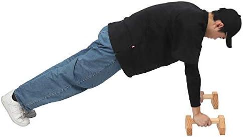 Wooden Parallettes Gymnastics Calisthenics Handstand Bar Fitness Training