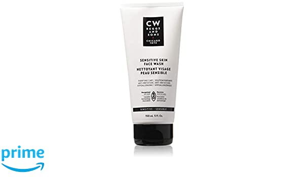 Amazon.com: CW Beggs and Sons Sensitive Skin Face Wash for Men, Hypoallergenic and Fragrance-Free, 5 fl oz: Beauty