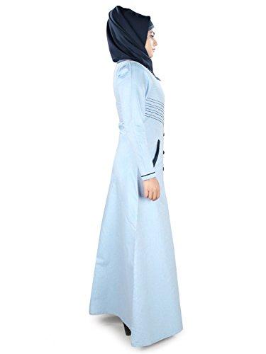 E Ay Ghiaccio Casuale 383 Cotone Burqa Usura Blu Formale Di Mybatua Jilbab Del Musulmano Abaya Onp1xnIg