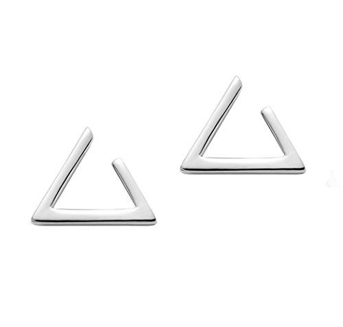 Minimalism Hollow Triangle Earrings Sterling Silver Stud Earrings Everyday Wear