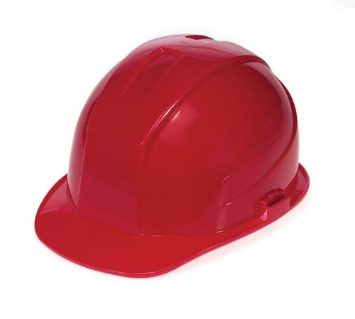- Liberty DuraShell HDPE Cap Style Hard Hat with 4 Point Ratchet Suspension, Red (Case of 6)