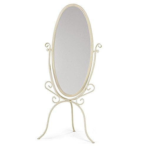 SSWBasics Boutique Ivory Cheval Floor Mirror