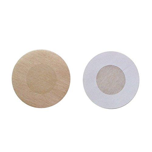 Desechables para pezones, almohadillas autoadhesivas pegatinas de mama no tejido invisible sujetador redonda, 15 Pairs