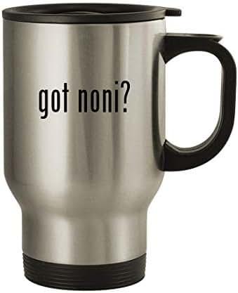 got noni? - 14oz Stainless Steel Travel Mug, Silver