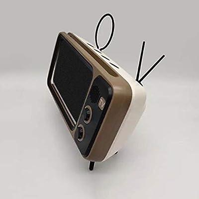 LKCXDD Soporte estéreo Teléfono con teléfono Altavoz con Bluetooth Reproductor de música para TV Retro Pocket Audio para el hogar Eléctrico Portátil Mini inalámbrico Blanco: Amazon.es: Electrónica
