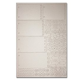 Maya Road Chipboard Mini 2-Ring Scallop Layer ()