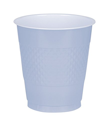 Pastel Blue, Big Party Pack, Plastic Cup 16 oz, 50 Per Pack