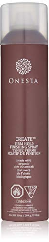 Finishing Spray Hair Spray - Onesta Hair Care Firm Hold Finishing Hair Spray, 10 oz, Humidity Resistant with Aloe - Strong Hold