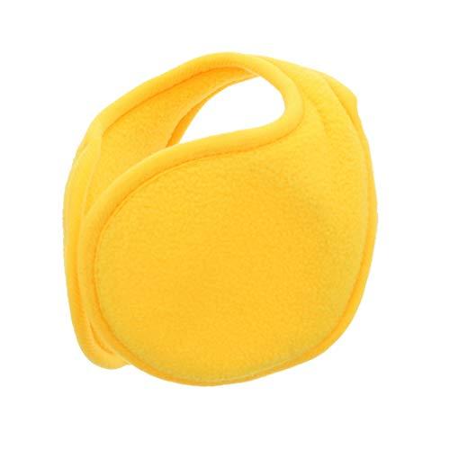 Yellow Ear Warmers Men Women Solid Polar Fleece Winter Earmuff