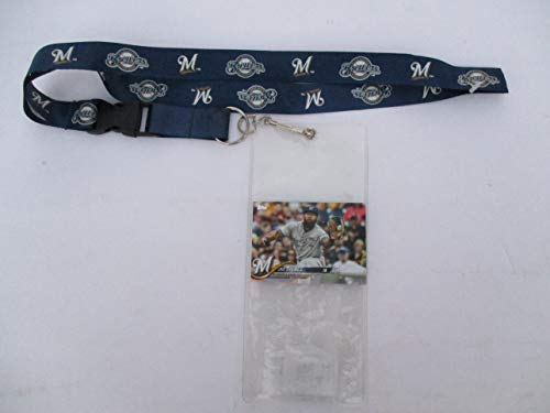 - MILWAUKEE BREWERS LANYARD WITH TICKET HOLDER PLUS COLLECTIBLE PLAYER CARD