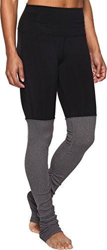 ALO Women's High Waisted Goddess Leggings Black/Stormy Heather Small 33 by ALO Sport (Image #1)
